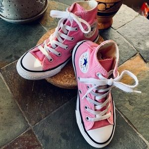 Pink High Top Converse Youth Size 12.5